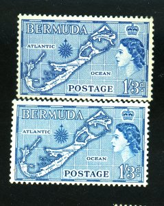 BERMUDA #156-7 MINT F-VF OG LH Cat $12