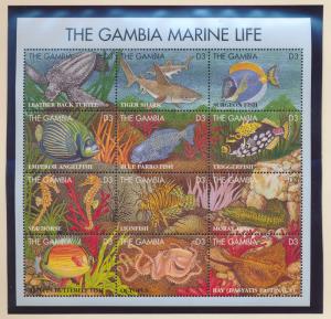 Gambia Stamp Scott #1623, Mint Never Hinged, Marine Life - Free U.S. Shipping...