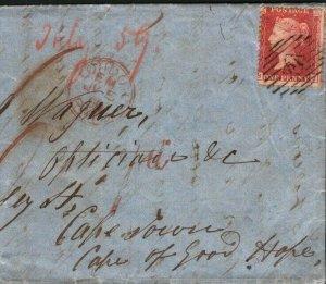 GB Cover GUN-MAKERS Admiralty Correspondence LATE MAIL 1859 {samwells} L41b