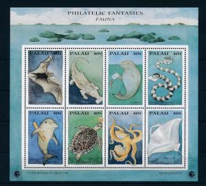 [35279] Palau 1994 Marine Life Deliver mail Bat MNH Sheet