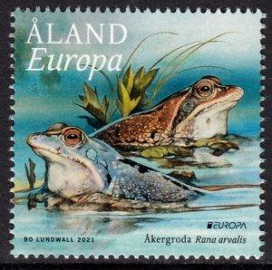 ALAND 2021 EUROPA CEPT REPTILES FROGS GRENOUILLES FRÖSCHE [#2105]