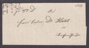 Germany, 1874 Stampless SFL, partial embossed seal