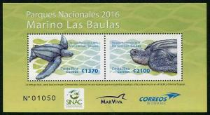 HERRICKSTAMP NEW ISSUES COSTA RICA National Parks 2016 Leatherback Turtles
