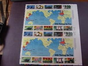 U.S.# 2765(a-j)-MINT/NEVER HINGED-----WORLD WAR II-----PANE OF 20----1993