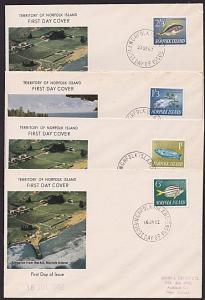 NORFOLK IS 1962-63 Fish 4 values on FDCs....................................4555