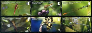 2019 Btitish Indian Ocean Territory BIOT Dragonflies (6) (Scott NA) MNH