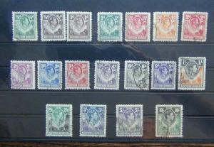 Northern Rhodesia 1938 - 1952 values to 10s Used