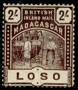 MADAGASCAR SG61, 2s chocolate, M MINT. Cat £35.