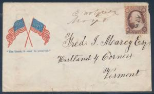 #26 ON PATRIOTIC COVER THE UNION IT MUST BE PRESERVED CV $150+ BT1838