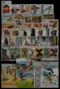 Laos MNH year set 1991, 37v+5s/s