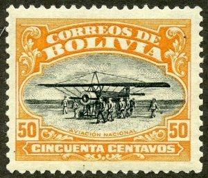Bolivia Scott C4 MVFNHOG - Nat'l Aviation School Founding - SCV $10.00