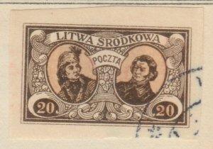 Central Lithuania Mittellitauen Lituanie Centrale Lituania 1921 20m Us A8P11F116