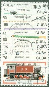 A2-0003 CUBA 3789-97 (MISSING 3798) USED SCV $6.15 BIN $2.50 TRAINS