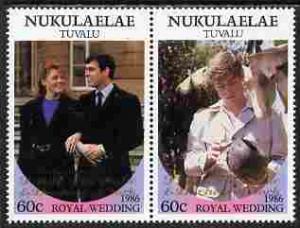 Tuvalu - Nukulaelae 1986 Royal Wedding (Andrew & Ferg...