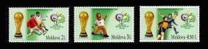 Moldova 2006 Football Soccer Germany 2006 3 MNH stamps