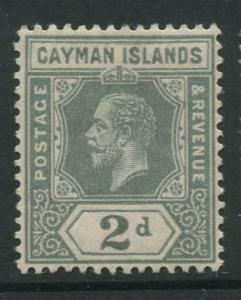 Cayman Islands - Scott 35 - KGV Definitive Issue -1912 - MLH - Single 2d Stamp