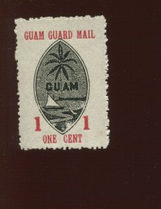 GUAM  Guard Mail M3 Unused Stamp with WMK Variety (Bx 526)