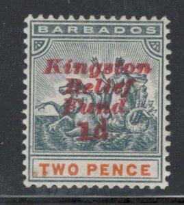 Barbados 1907 Semi-Postal (Kingston Relief Fund) Scott # B1 MH