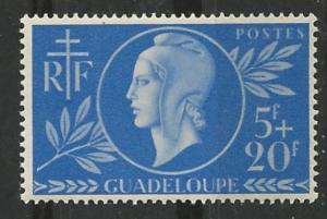 Guadeloupe # B12  Red Cross - common design 1944  (1) VF Unused
