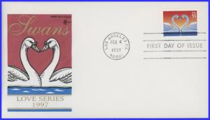 US FDC #3123-3124 Love Swans set of 2 ~ Cover Craft (8469)