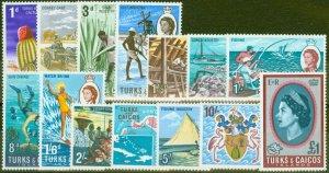 Turks & Caicos Is 1967 set of 14 SG274-287 V.F MNH