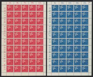 Luxembourg Birds Europa CEPT 2v 1961 Full Sheets SG#697-698 SC#382-383 CV£70+