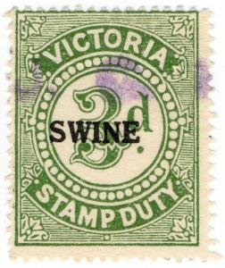 (I.B) Australia - Victoria Revenue : Swine Duty 3d (large format)