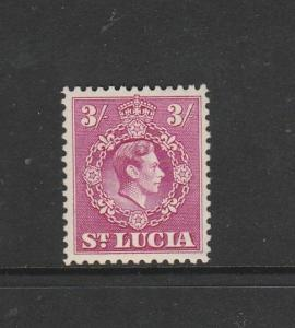 St Lucia 1938/48 GV1 Defs 3/- MM SG 136a