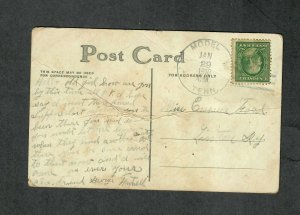 Tennessee Cancel Post Card Model 1910 DPO