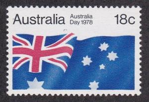 Australia # 671, Australian Flag, NH, 1/2 Cat.Cat.