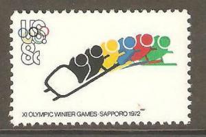 1461 Olympic Bobsledding US Single Mint/nh (Free Shipping)