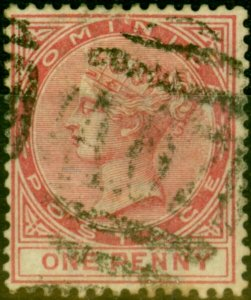 Dominica 1887 1d Rose SG22 Fine Used Stamp