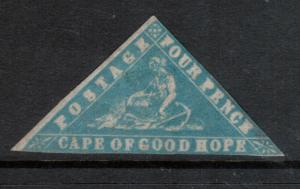 Cape Of Good Hope #9b (SG #14b) Mint Fine World Rarity 1861 Woodblock *With Cert
