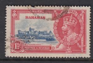 Bahamas -Scott 92 - Definitive - KGV -1935 - Used - Single 1.1/2d Stamp