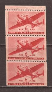United States scott #C25a Booklet Pane m/nh stock #N4648
