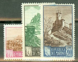 BD: San Marino 278//293 mint no 288, 291 CV $171.25; scan shows only a few