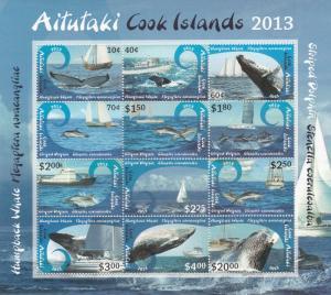 Aitutaki #612  MNH   CV $62.50  (K1865L)