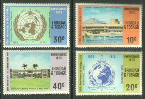 TRINIDAD AND TOBAGO 1973 ANNIVERSARY SET OF 4 STAMPS MNH R2021375
