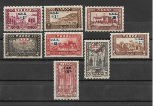 French Morocco 1938, Surcharged, Scott # B13-B20,VF MNH** (FR-1),Val $60