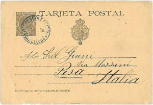 POSTAL HISTORY : SPAIN - POSTAL STATIONERY - ENTERO POSTAL : 1898 to ITALY