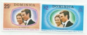 Dominica  #372-373   (MLH)  CV $0.85