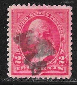 USA 251: 2c Washington, Triangle B, used, F-VF