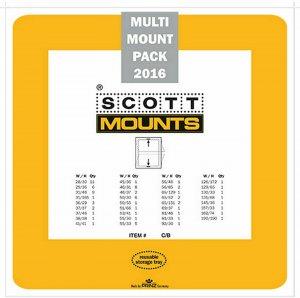 Prinz Scott Stamp Mount Set 2016 BLACK (81 Mounts)