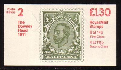 Great Britain Sc BK524  £1.30 cpl booklet mint NH Downey Head G V cover