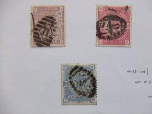 QV 1883 2/6 lilac SG178 & 5s carmine SG180 & 10s ultramarine SG183 #2