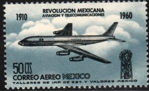MEXICO C253, 50¢ 50th Anniv Mexican Revolution. MINT, NH. F-VF.