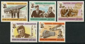SOUTH ARABIA KATHIRI MI#166-172 1966 Kennedy-Space Complete Set OG MNH