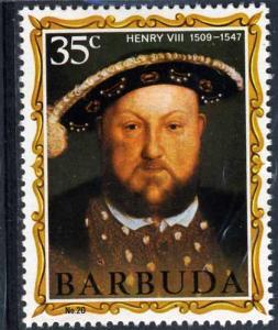 Barbuda 1974 KING HENRY VIII set 1 value Perforated Mint (NH)