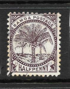 SAMOA  1886-99  1/2d  PALM TREES  FU P12x11 1/2   SG 27