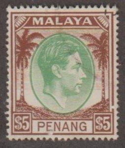 Malaya - Penang Scott #22 Stamp - Used Single